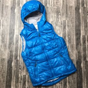 Puffy athletic vest coat